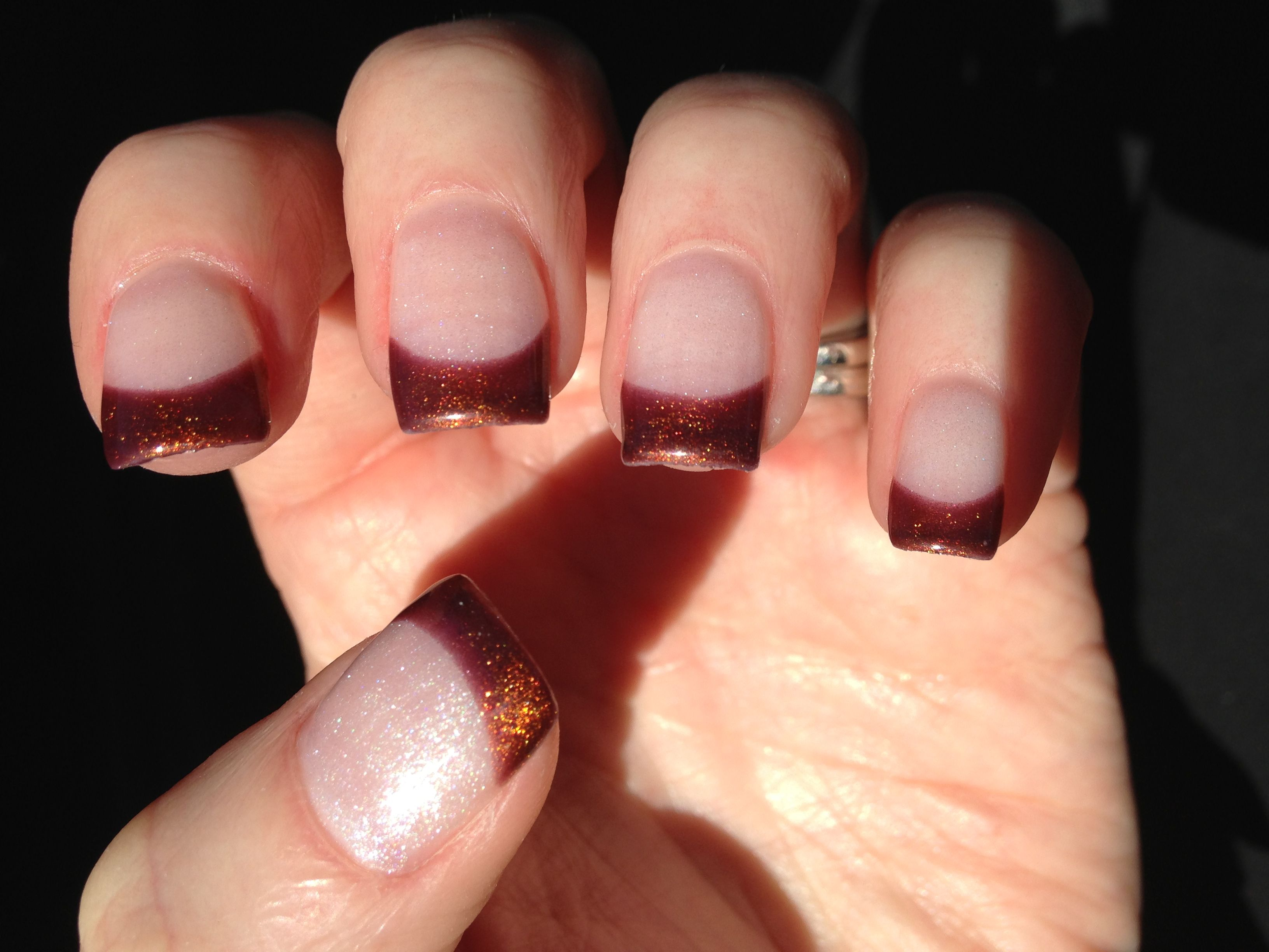 Bronze french manicure for Fall | Hair and Beauty | Pinterest ...