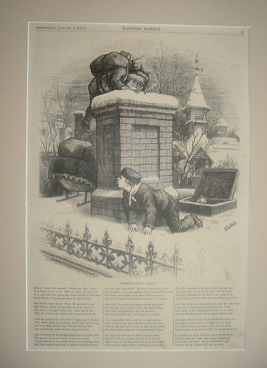 """Seeing Santa Claus"" Thomas Nast for Harper's Weekly 1876"