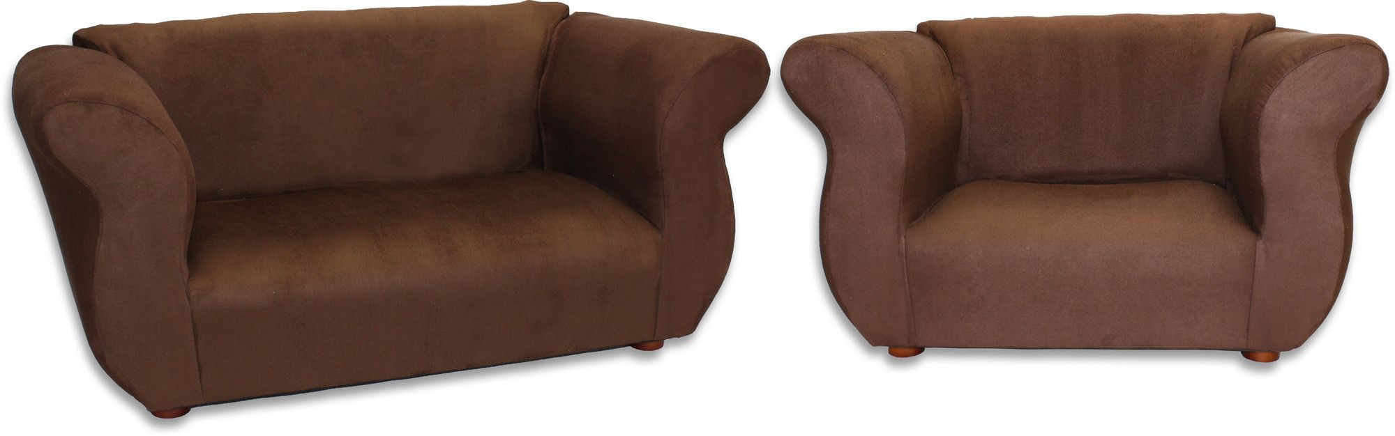 Kidu0027s Fancy Microsuede Sofa And Chair Set