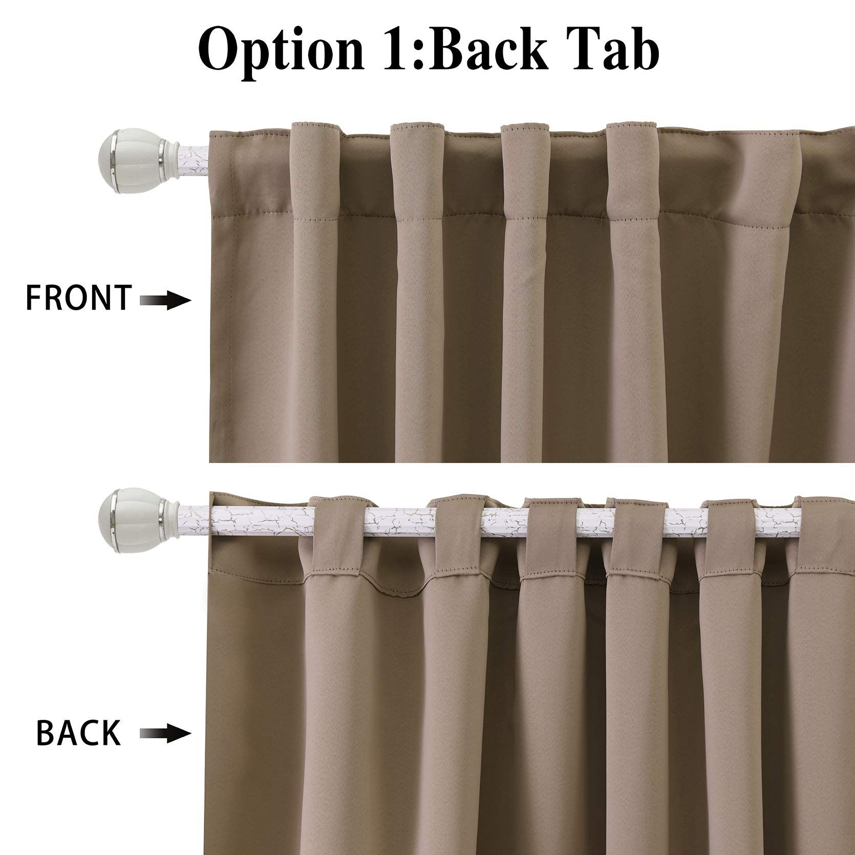 Wontex Thermal Insulated Blackout Curtains Back Tab And Rod Pocket