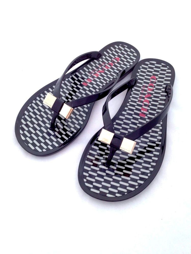 e867bf891990b0 New COACH Black Jelly Landon Sandals Flip Flop Flats Size 6  Coach   FlipFlops  coachaddict  coachcollector  coachforsale  coachhandbag   coachstyle ...