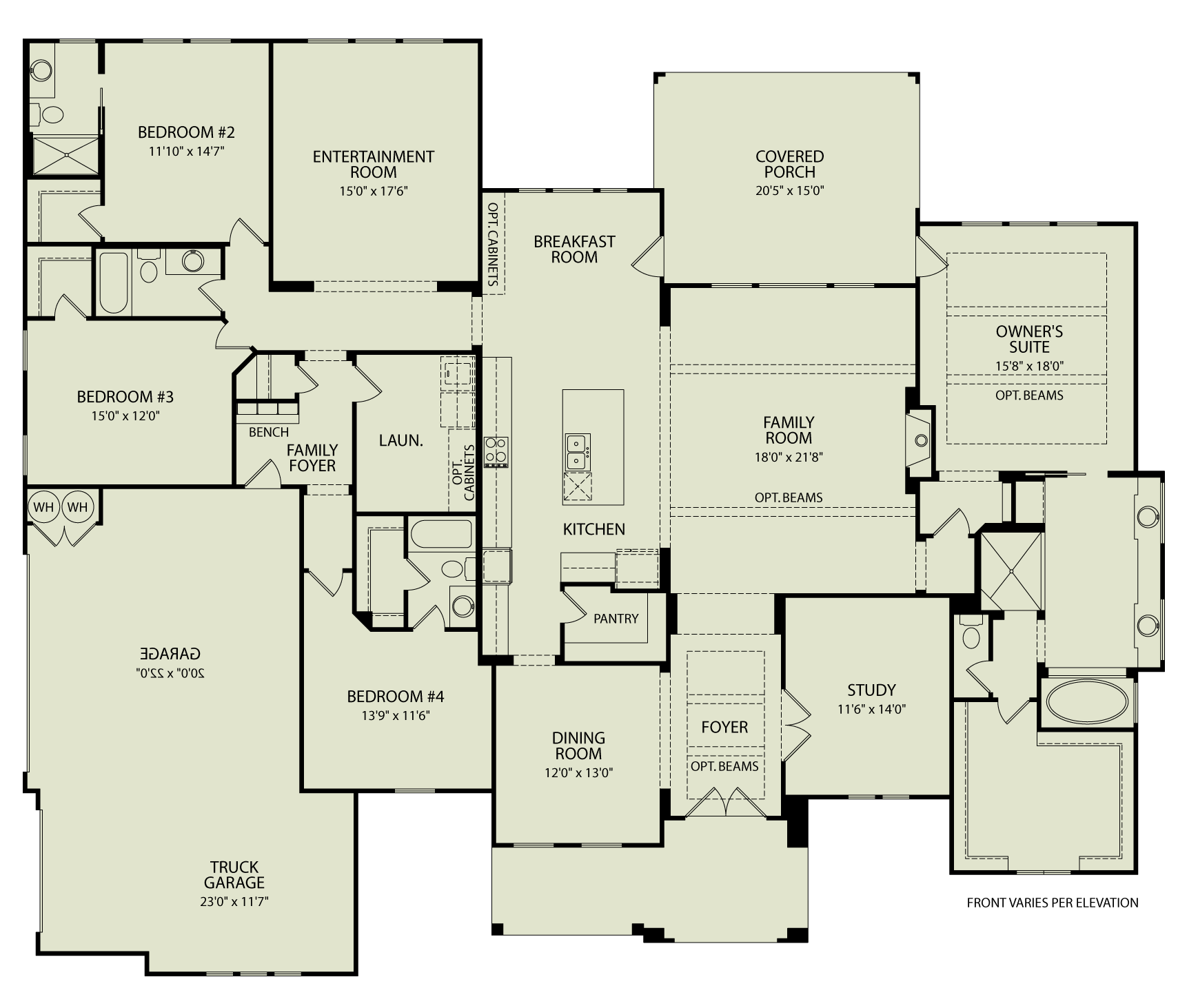 Channing 125 Drees Homes Interactive Floor Plans Custom Homes Without The Custom Price New House Plans Floor Plans Floor Plan Design