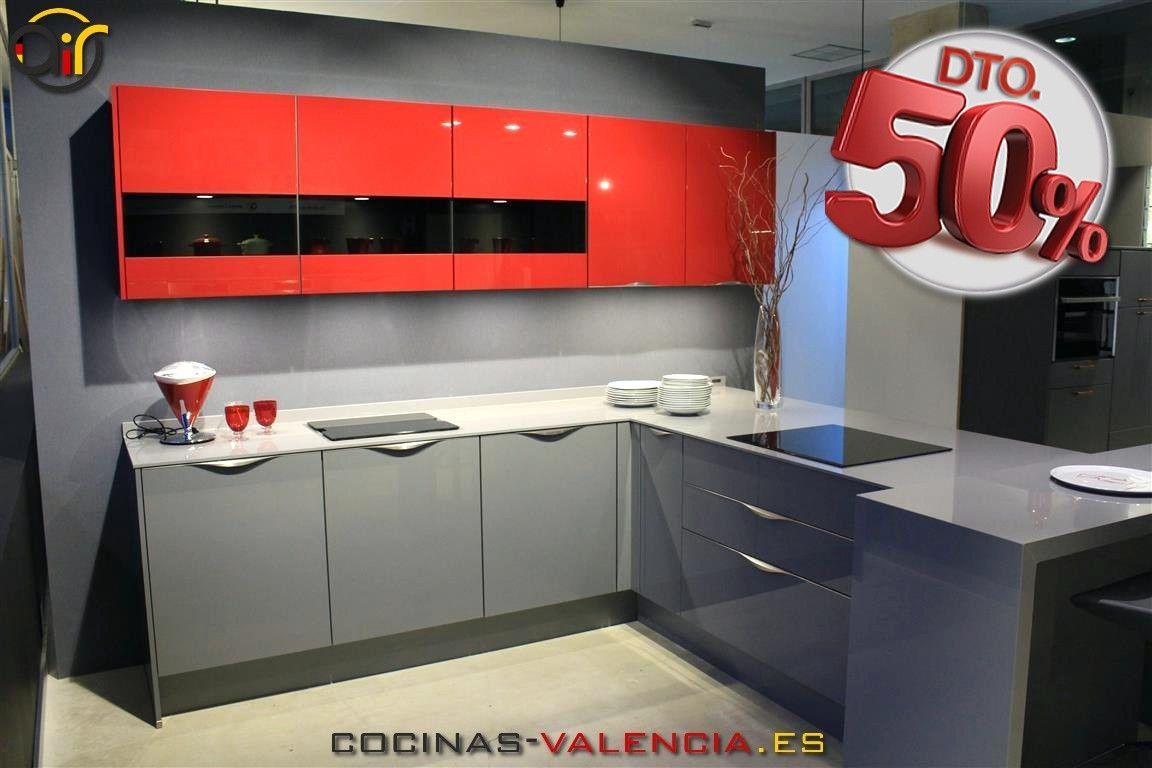 Muebles de cocina en oferta en outlet de cocinas en Valencia. Modelo ...
