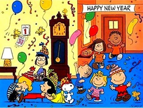 peanuts happy new year