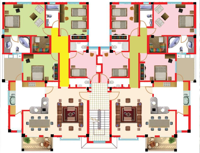 Awesome Apartment Plans 2 Bedroom Gallery - Decorating Ideas ...