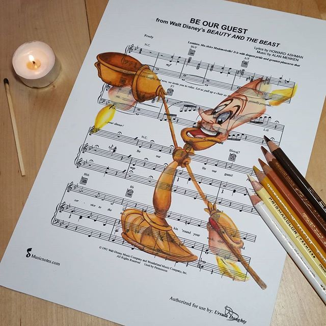 Beauty And The Beast Sheet Music With Lyrics: Beauty And The Beast - Be Our Guest