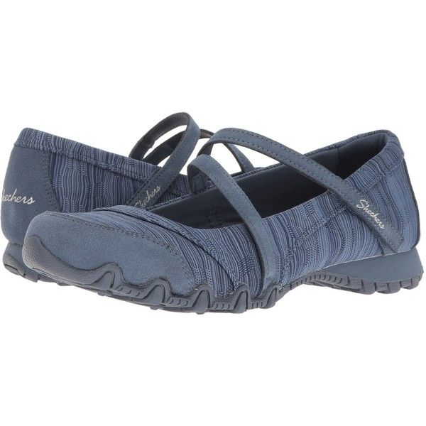 SKECHERS Bikers - Ripples (Blue) Women's Shoes ($60) ❤ liked on Polyvore