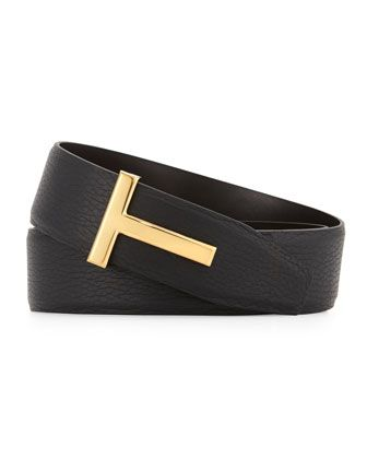 c2a7ffef6bd Reversible Leather Logo Belt