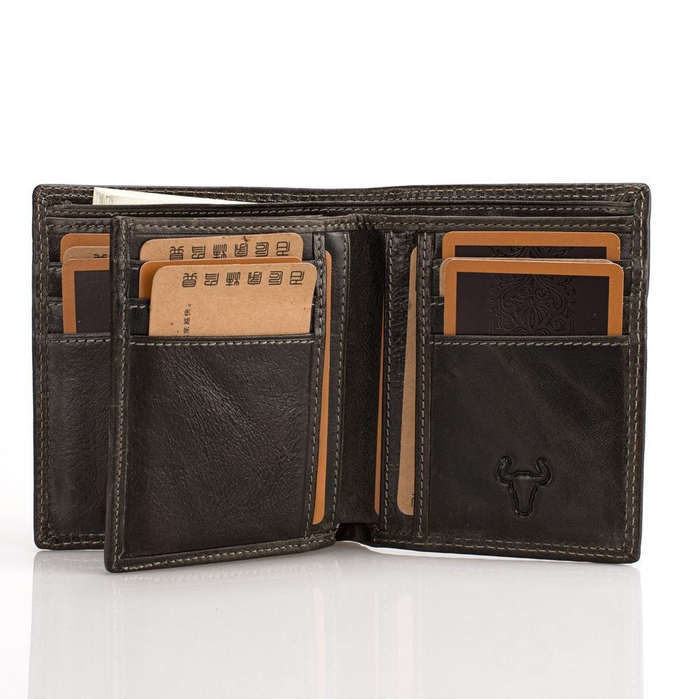 Men Real Leather Organizer Multi Card Flip Id High Capacity Trifold Wallet Unbranded Idwallet Leather Wallet Mens Wallet Men Wallet
