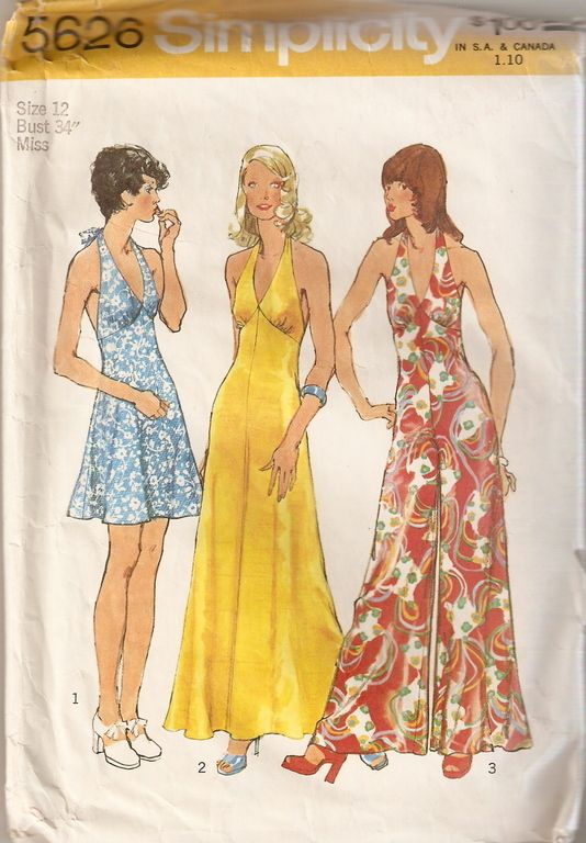 Pattern for the dress I made for homecoming dance in high school--gray satin. Wish I still had the dress; it would look great on my daughter.