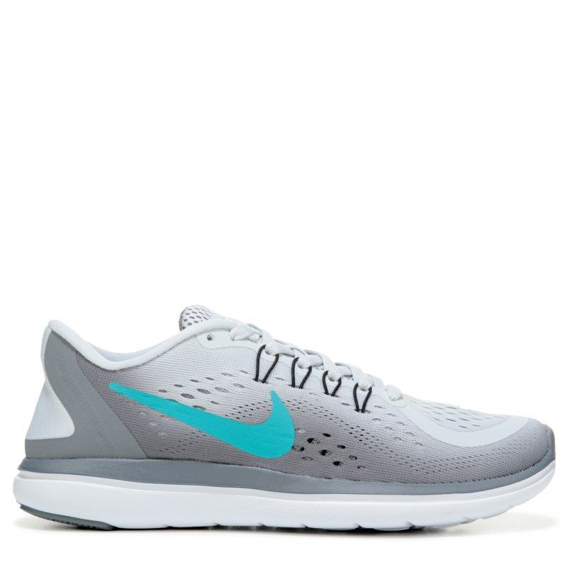 7c14ec6a73c72 Nike Women s Flex 2017 RN Running Shoes (Grey   Jade   Grey)