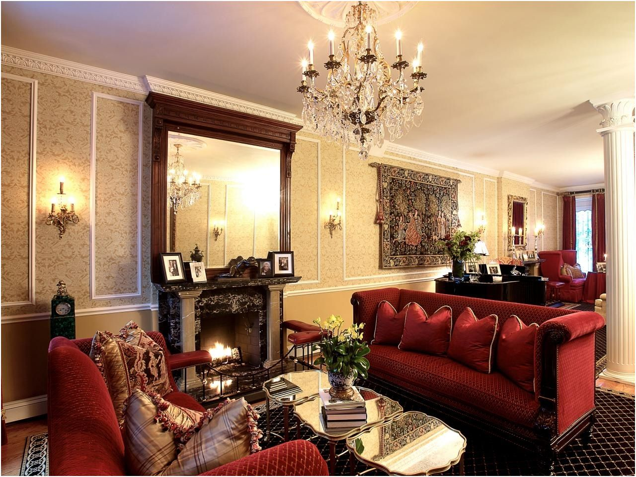 60 Pascher Red and Brown Living Room Photos | Living room ...