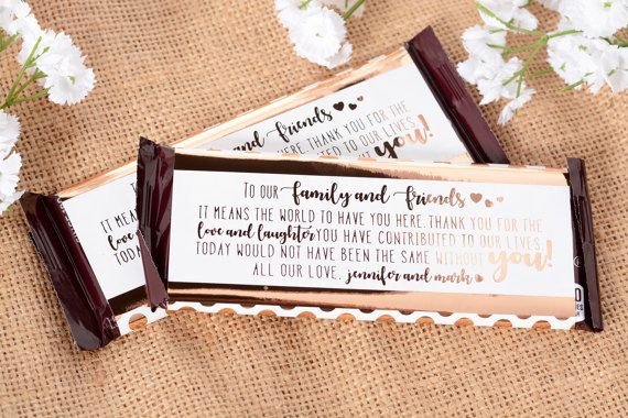 Bride and Groom Beach Wedding Candy Bar Wrappers