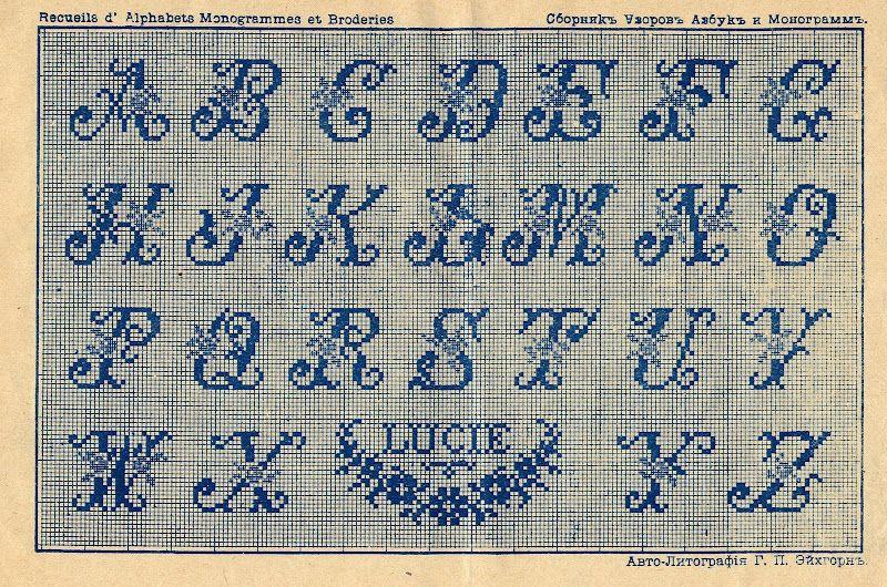 Alphabet point de pinterest - Grille point de croix lettre ...