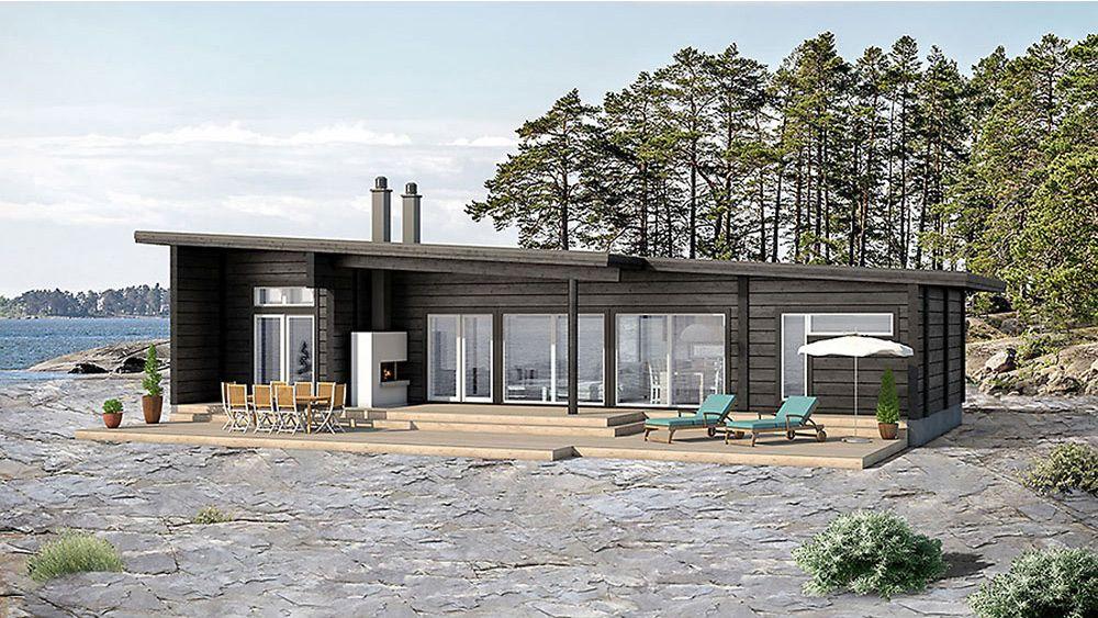 Suoralinjainen hirsitalo Villa Esox 100 huokuu skandinaavisen designin pelkistettyä kauneutta. Älykäs tilankäyttö yhdistettynä suureen ikkunapinta-alaan ja mahtavaan patioon tuovat ympäröivän luonnon portaattomaksi osaksi oleskelutiloja.