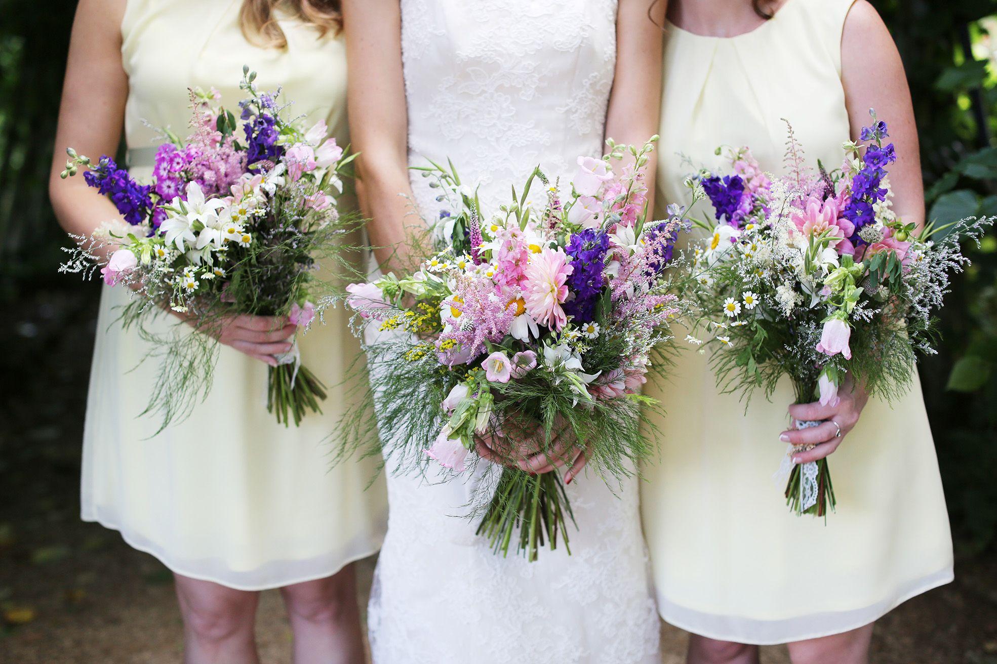 Wedding Bouquets Of English Cottage Garden Flowers Wedding Bridesmaid Bouquets Summer Garden Wedding Wedding Flowers