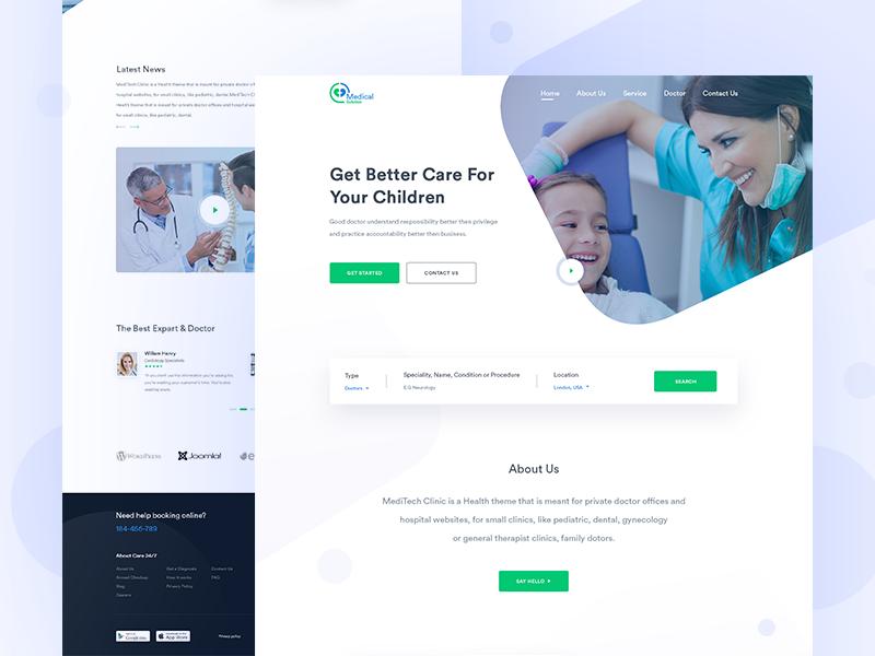 Medical Website Experiment Medical Experiments Web Design