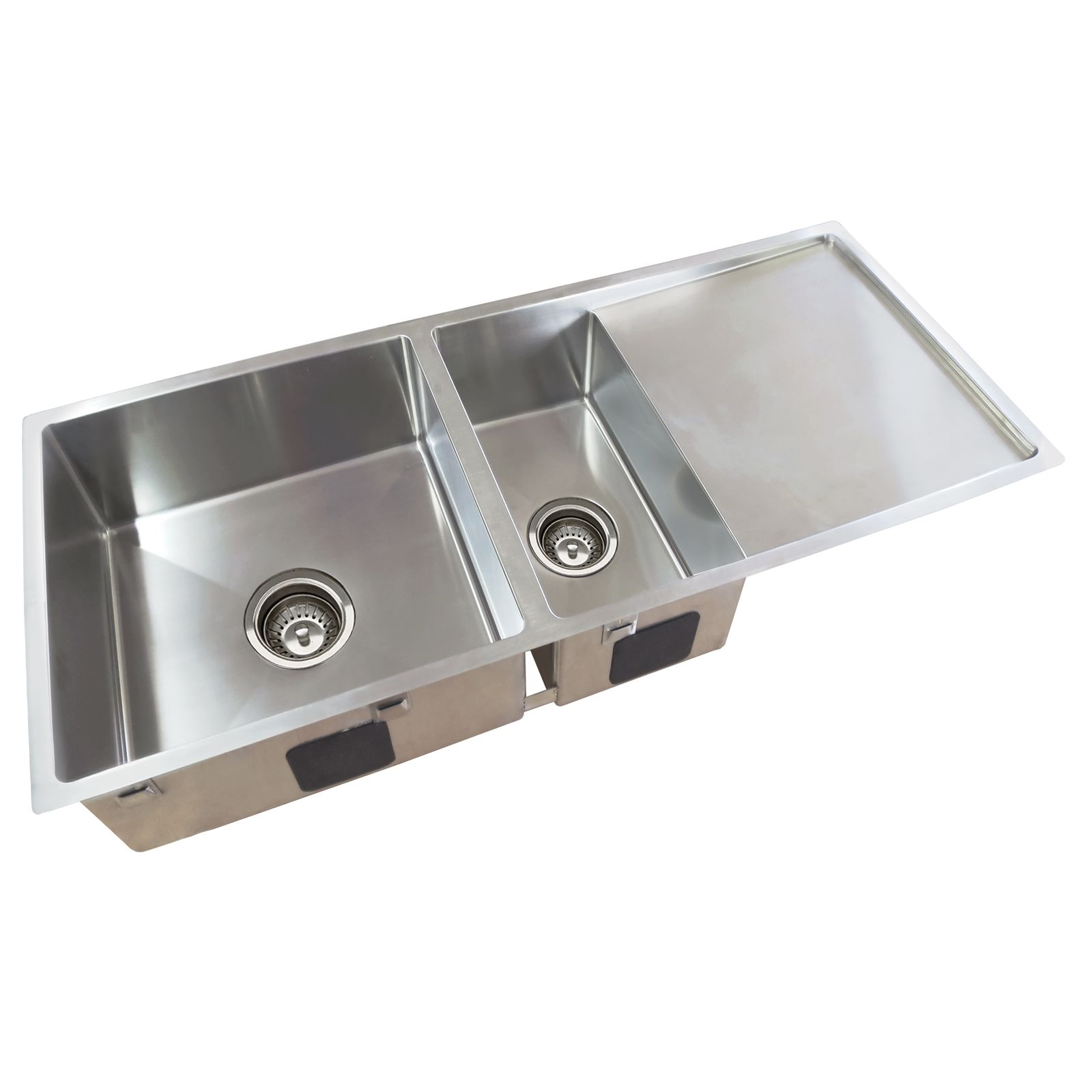 Everhard Squareline Plus One and Half Bowl Sink and Drainer with ...