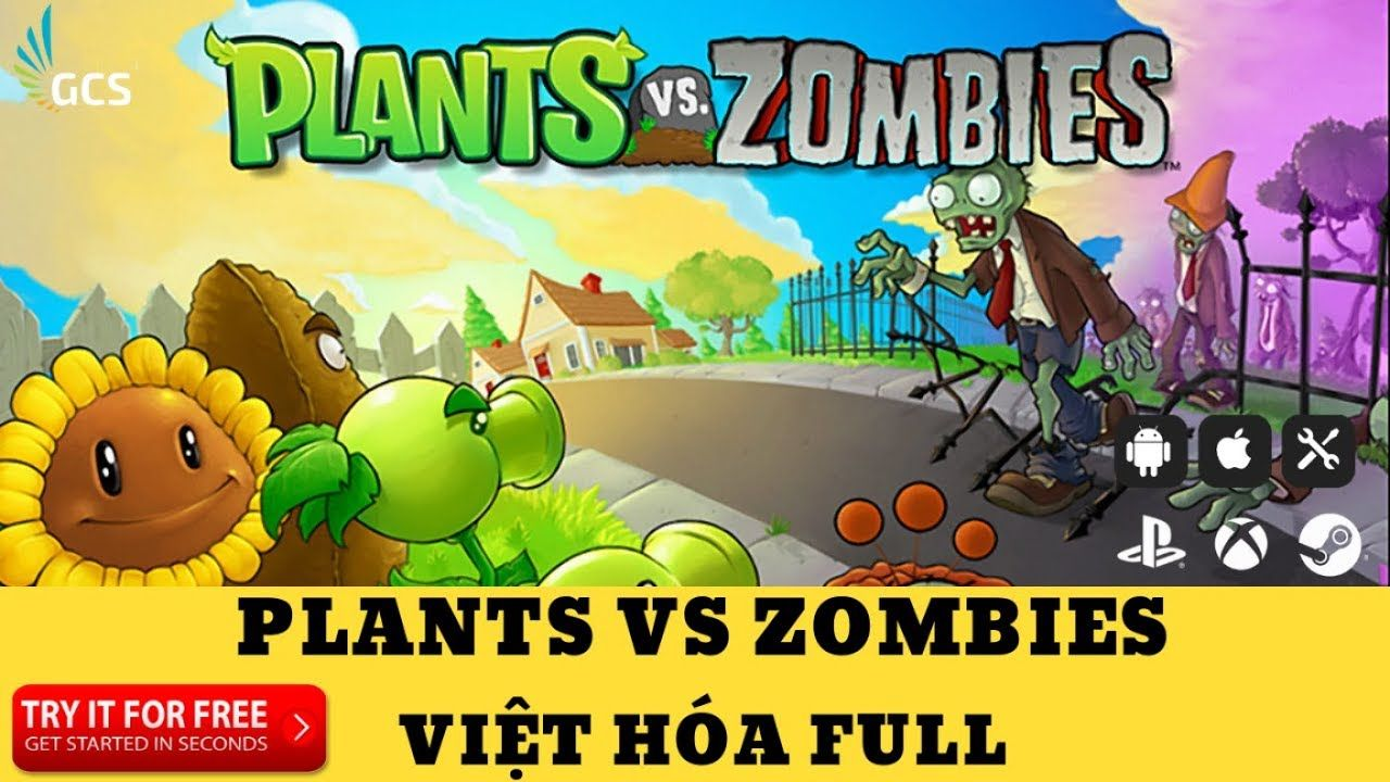 PLANTS VS ZOMBIES VIỆT HÓA FULL VERSION