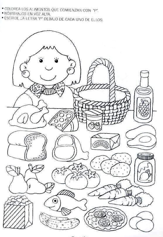 Letra P Kindergarten Literacy Pinterest Spanish Food