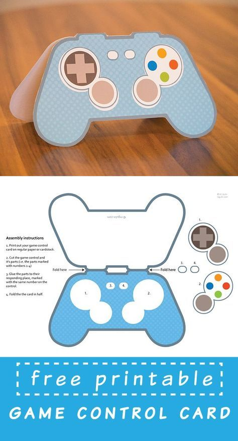 Free Printable Video Game Controller Card