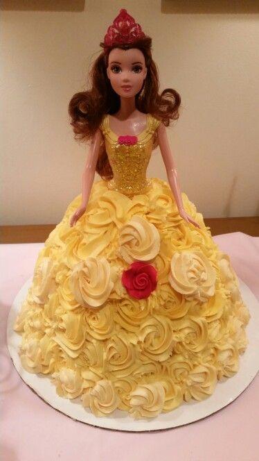 Disney Princess Belle Cake Belle Birthday Party Princess Belle