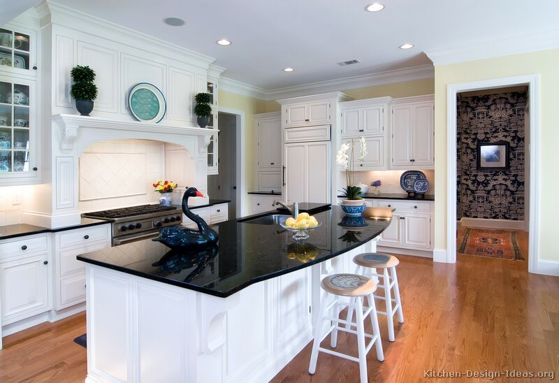 Black And White Kitchen Designs Ideas And Photos White Kitchen Traditional Kitchen Design Styles Traditional White Kitchen Cabinets
