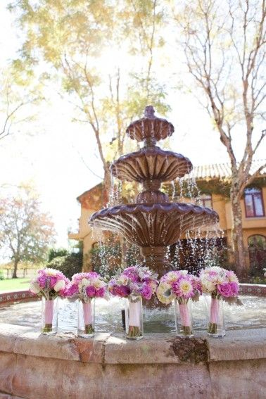 Radiant Orchid Bouquets // photo by Heather Scharf Photography, see more: http://theeverylastdetail.com/romantic-radiant-orchid-wedding/