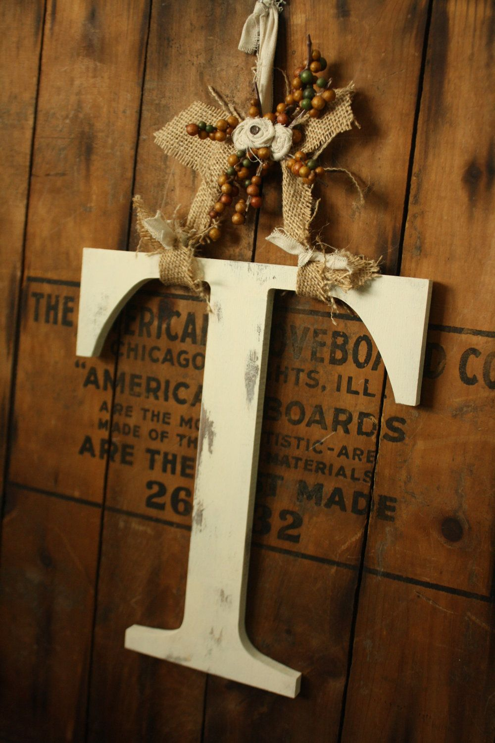 Pin By Cathy Tullos On Home Decor Letter Door Hangers Wooden Initials Fancy Letters