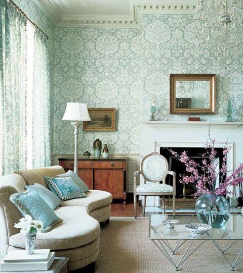 Classic wallpaper Wallpaper love stuff Pinterest Klassisch - wohnzimmer tapete blau