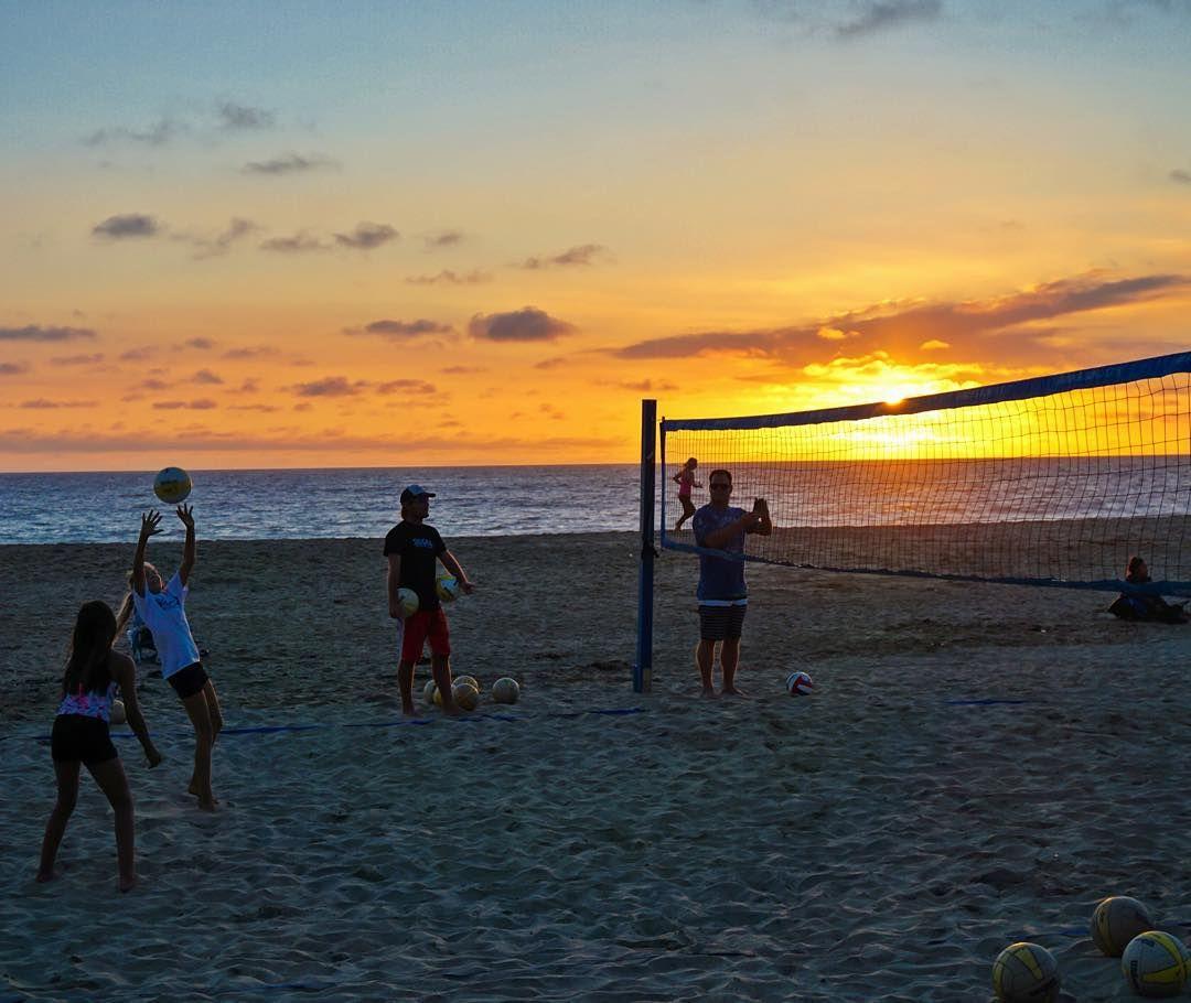 Maile S Volleyball Practice This Evening At The Beach 2 On 2 Sunset Beachvolleyball Carlsbadsunset Socalvbc B With Images Volleyball Practice Sunset Beach Volleyball