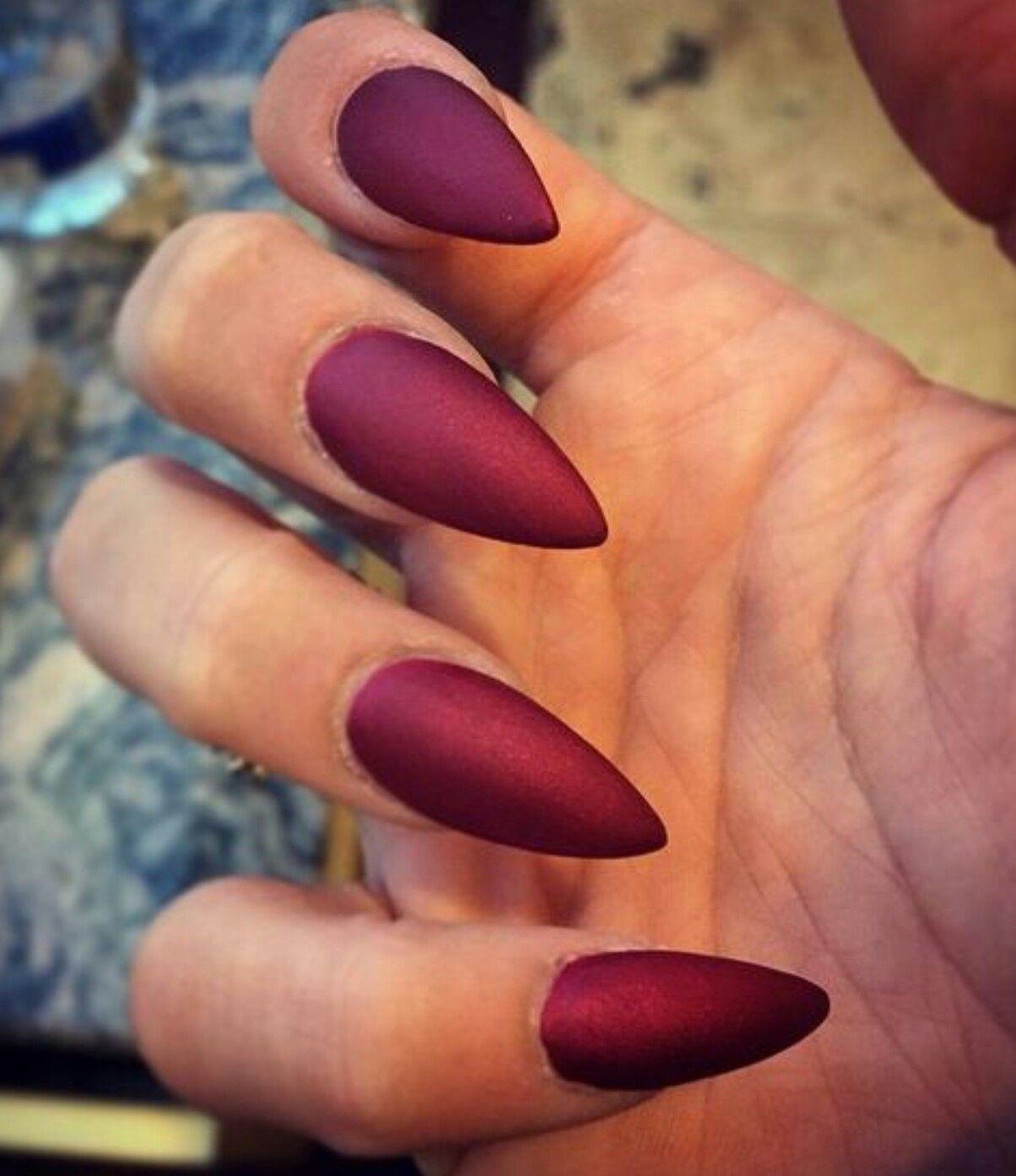 Pin By Tiffany Chantel On Unghie Red Stiletto Nails Stiletto Nails Short Maroon Nails