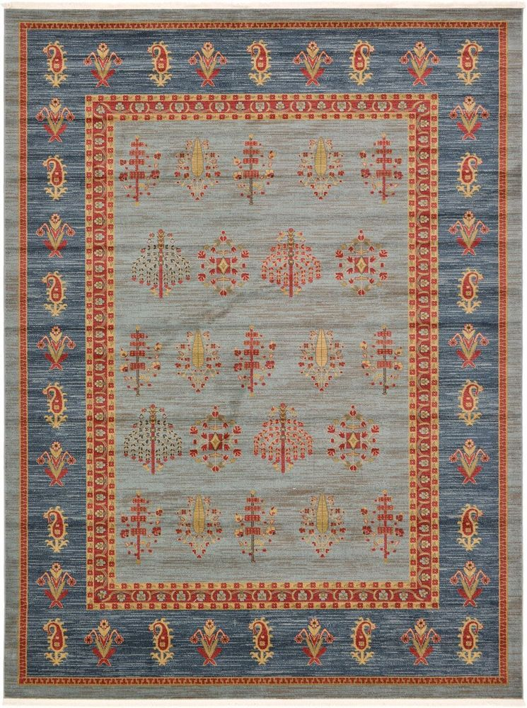 Details About Tribal Persian Gabbeh Style Area Rugs Carpet Light Blue 8 11 X 12 Nomad Rug
