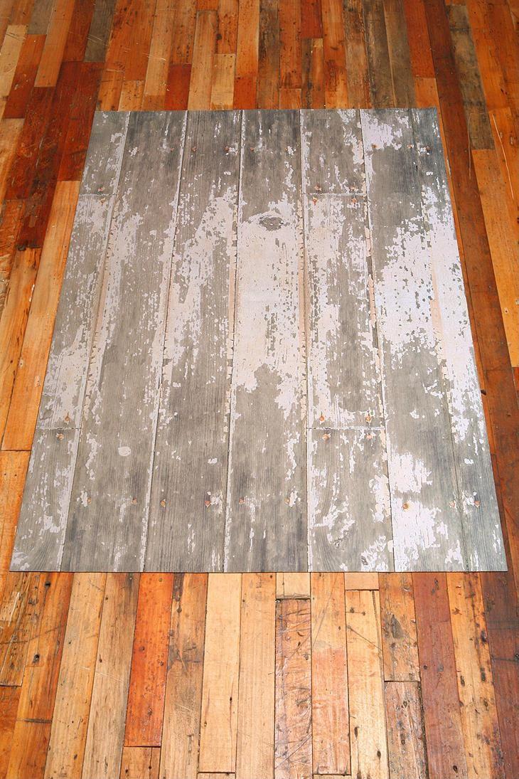 Trompe L'Oeil Floor Mat - Distressed Floor #urbanoutfitters