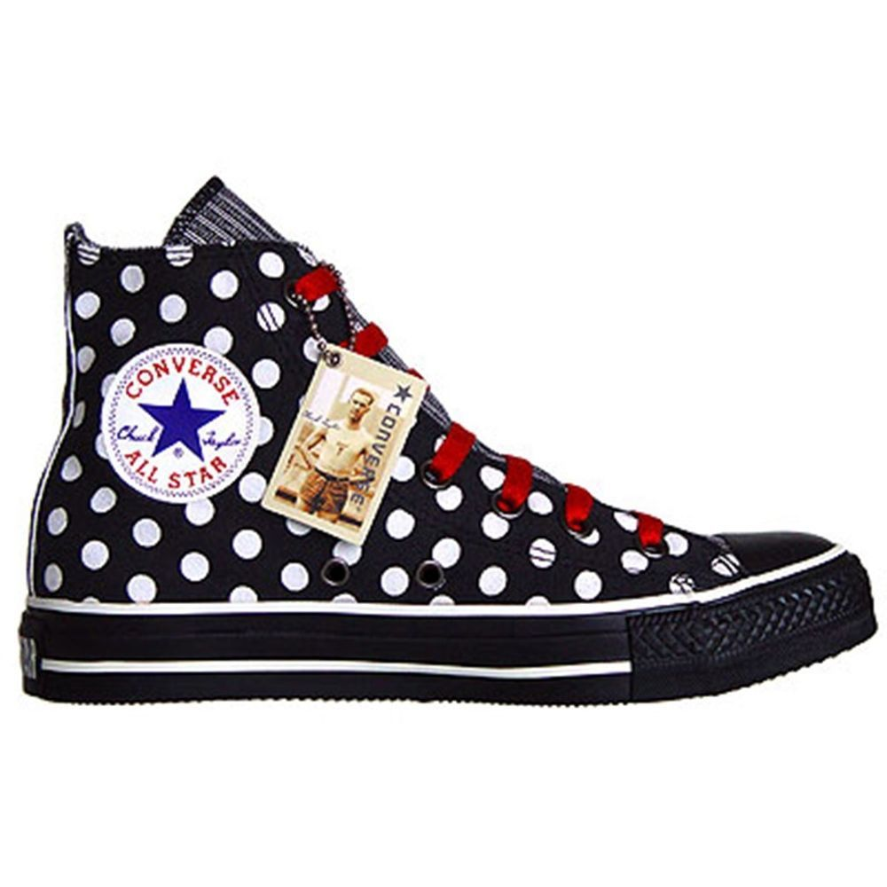 CONVERSE ALL STAR CHUCKS EU 39 / 6 BLACK PUNKTE POLKA DOTS LIMITED EDITION  1W761