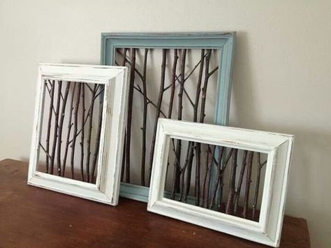 Framed Twigs Picture Frame Designs Diy Decor Diy Home