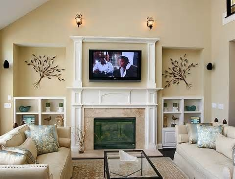 Room Ideas Combining With Sofa Set And Wall Mount Tv Above