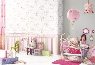 Papeles pintados infantiles de camengo papel pintado - Papel pintado habitacion infantil nina ...