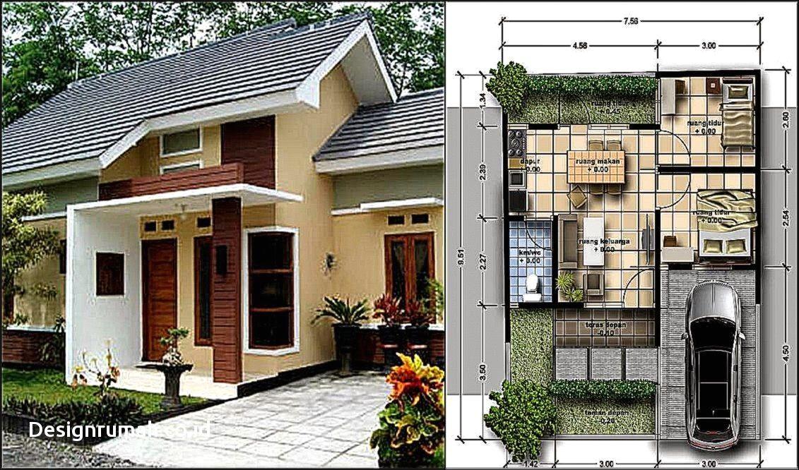 Contoh Denah Gambar Rumah minimalis Ukuran 7 x 8 Terbaru