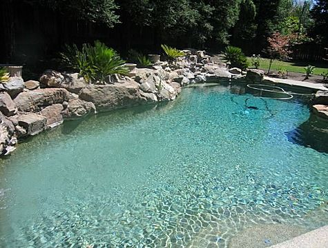 Natural Looking Backyard Pools Natural Looking Pool Concrete Powder Pools Pinterest