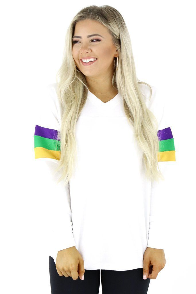 Mardi Gras Graphic Long Sleeve TShirtgraphic