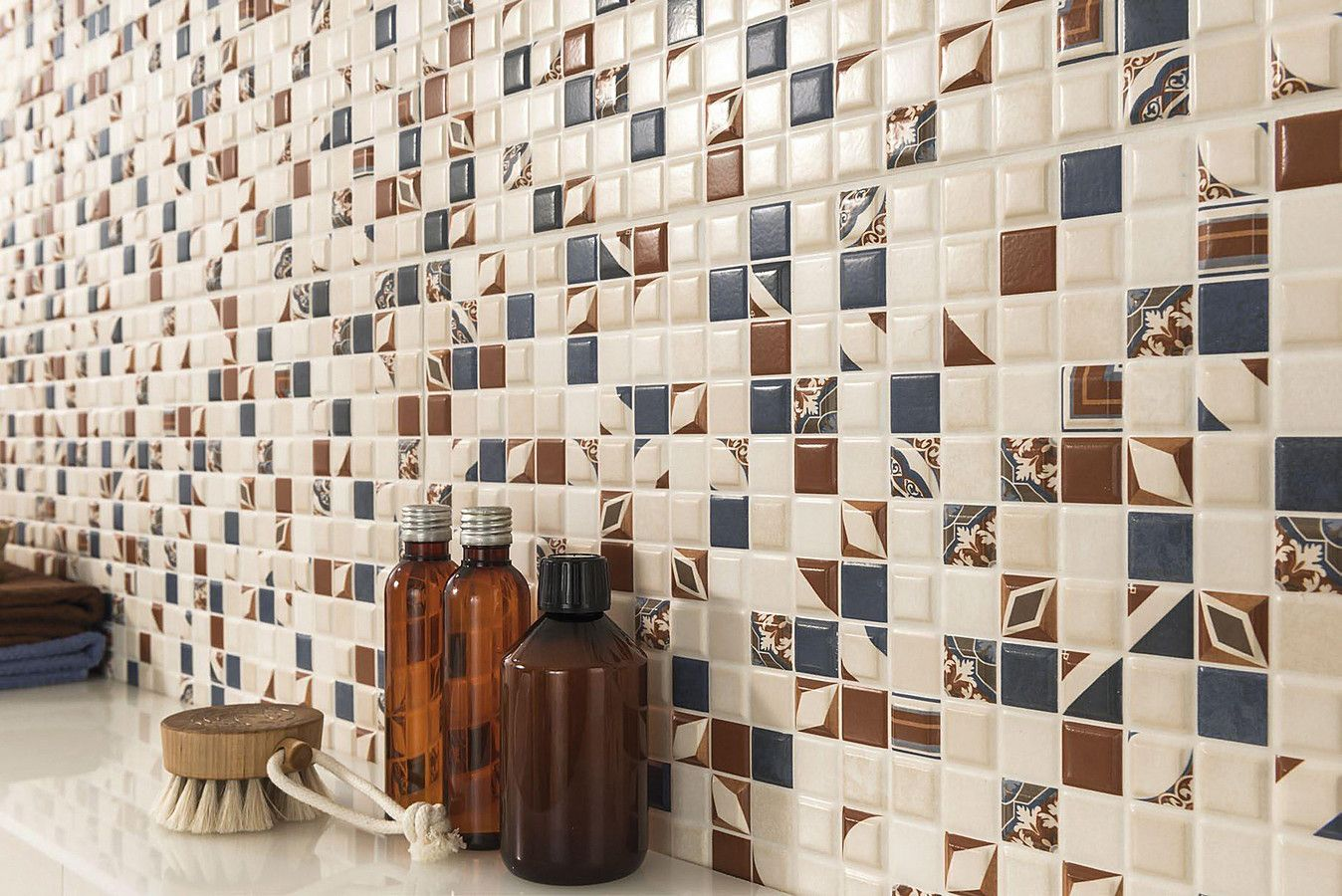 Ongeglazuurde tegels badkamer
