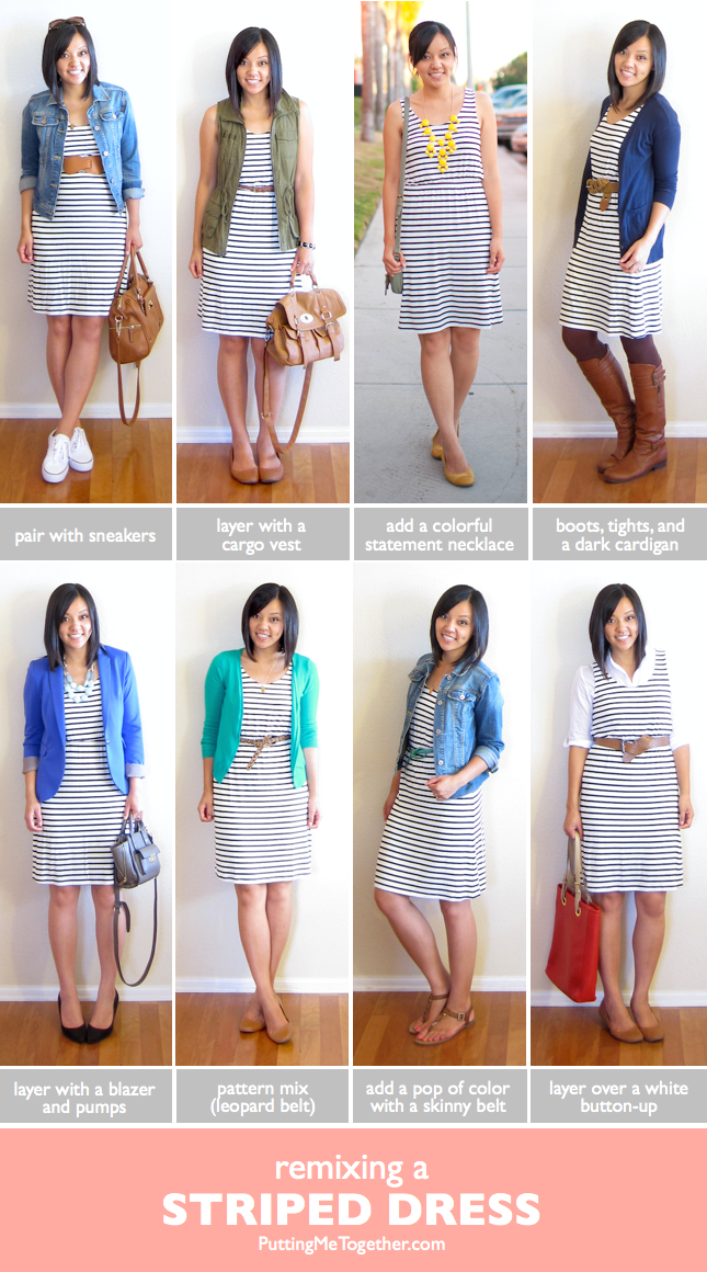Putting Me Together: Ways to Remix a Striped Dress & THIS DRESS IS BACK.