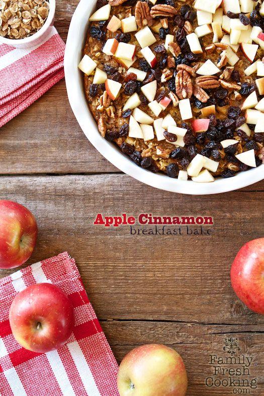 Apple Cinnamon Breakfast Bake   FamilyFreshCooking.com