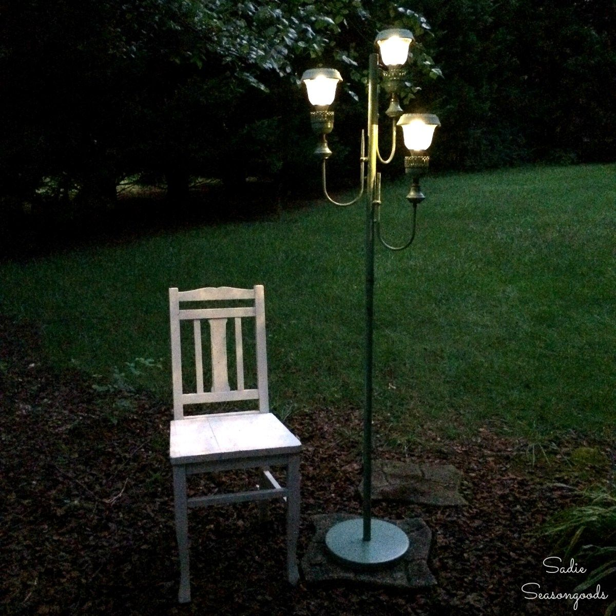 Floor L& Transformation to Charming Solar Lights & Floor Lamp Transformation to Charming Solar Lights | outdoors ...