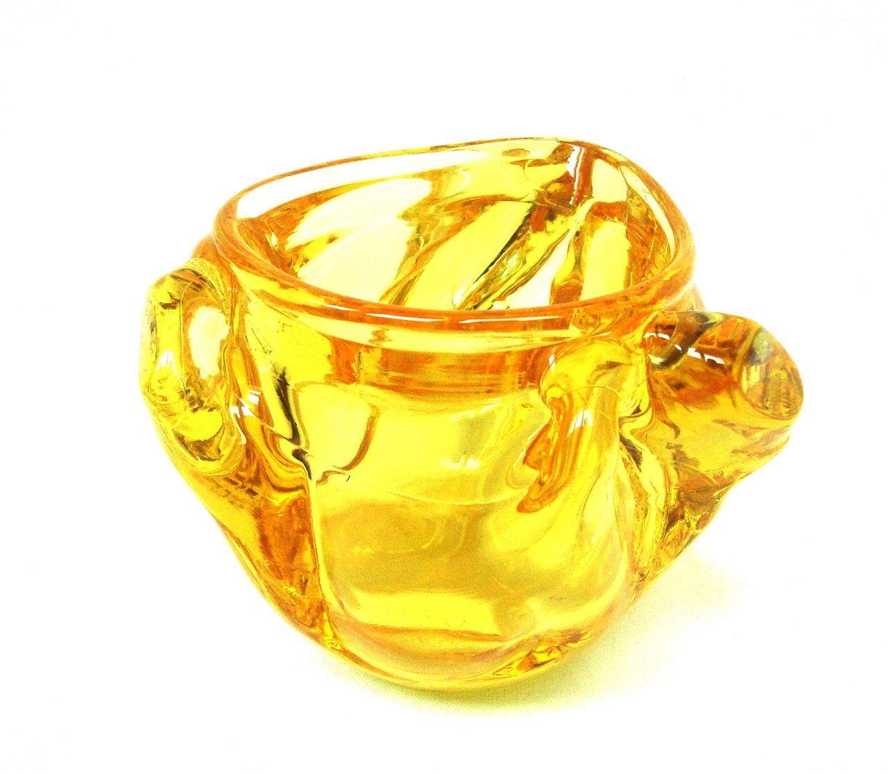 Vintage Murano amber glass vase Italian art glass | murano glass and ...