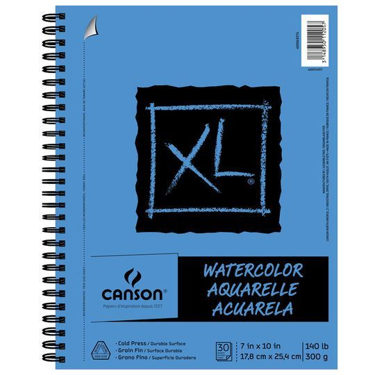 Canson Xl Watercolor Pad Drawing Tablet Mixed Media Canson