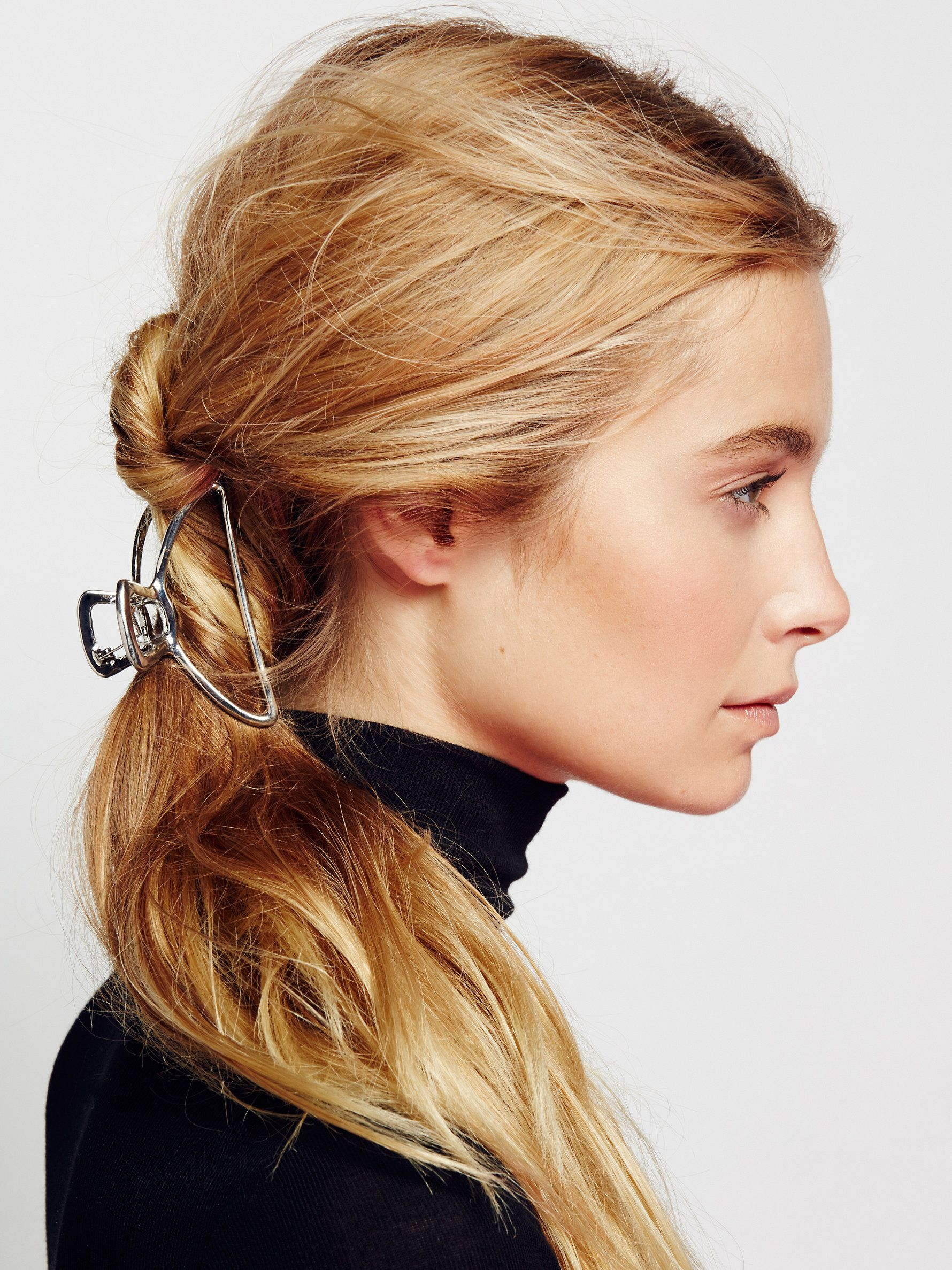 Simple Metal Claw With images   Clip hairstyles ...