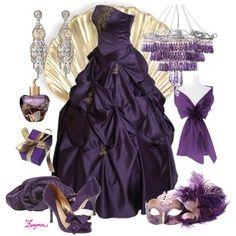 Purple Masquerade Dresses