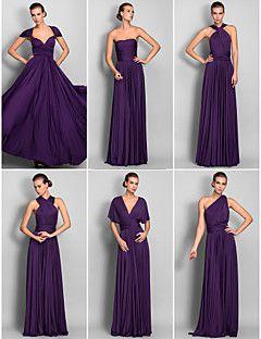 mezcla lanting&vestido convertible partido vaina palabra de longitud camiseta / vestido de columna (633753)